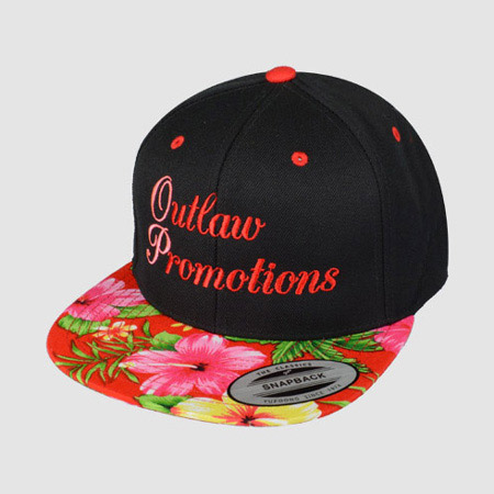 Embroidered Animal Floral print Snapback